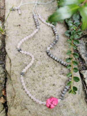 Howlit | jaspis | kwarc różowy